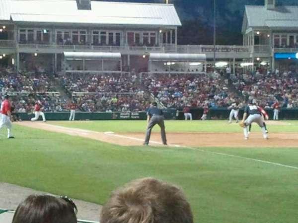 Dr Pepper Ballpark, secção: 124, fila: 4, lugar: 3