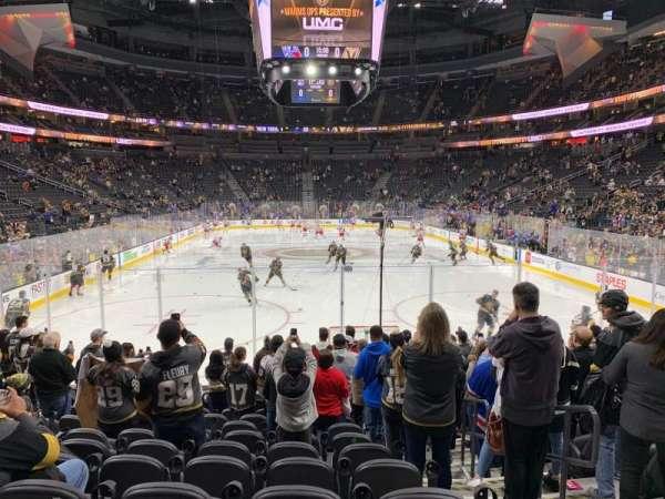 T-Mobile Arena, secção: 20, fila: K