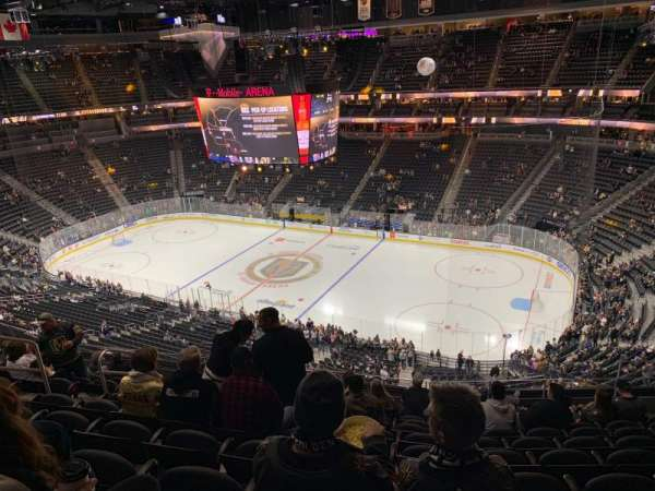 T-Mobile Arena, secção: 226, fila: K, lugar: 8