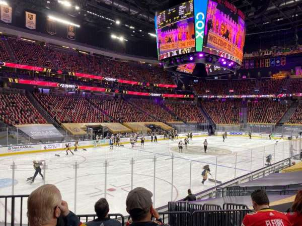 T-Mobile Arena, secção: 13, fila: K, lugar: 2