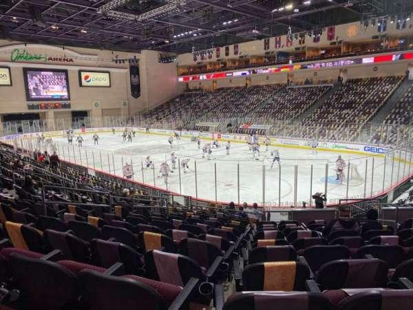 Orleans Arena, secção: 113, fila: L, lugar: 7