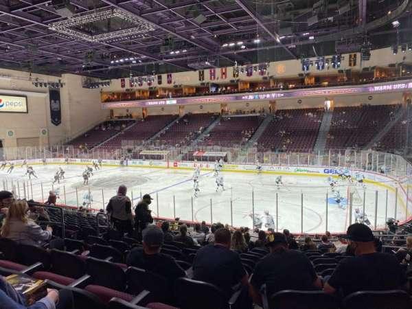 Orleans Arena, secção: 114, fila: M, lugar: 8