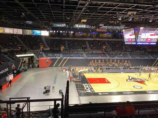 Michelob Ultra Arena, secção: 205, fila: G, lugar: 6