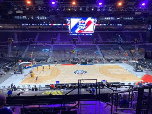Michelob Ultra Arena, secção: 219, fila: G, lugar: 20