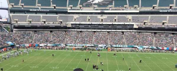 Lincoln Financial Field, secção: C1, fila: 4, lugar: 1