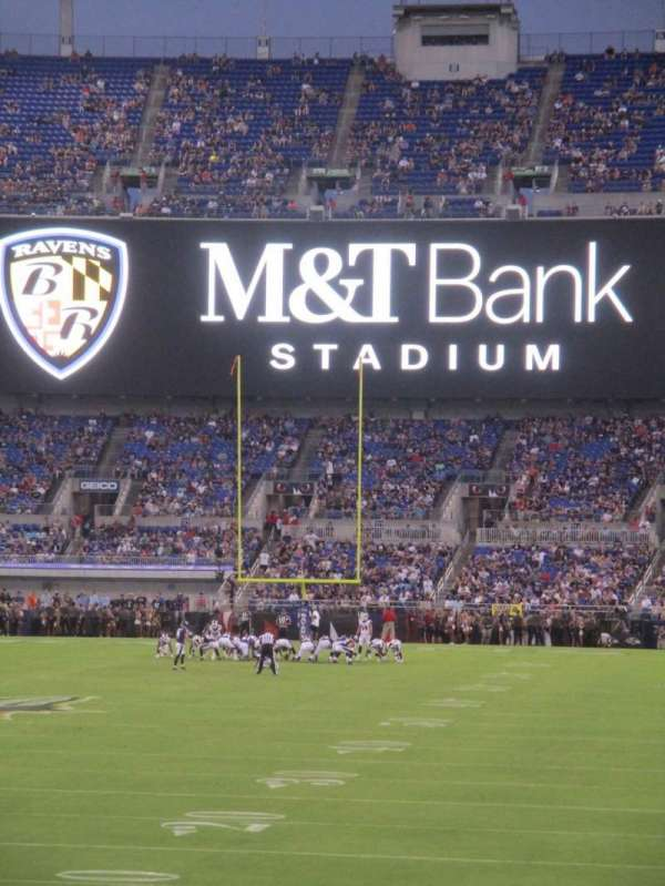 M&T Bank Stadium, secção: 138, fila: 15, lugar: 10