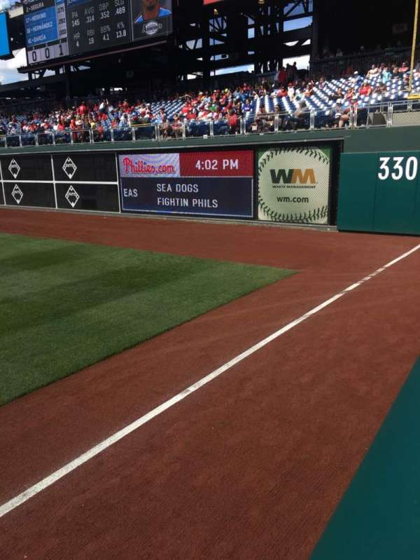 Citizens Bank Park, secção: 108, fila: 11, lugar: 18