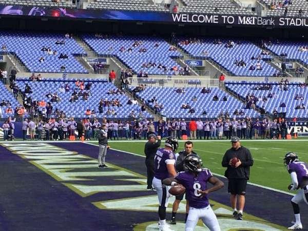 M&t bank stadium, secção: 132, fila: 1, lugar: 5