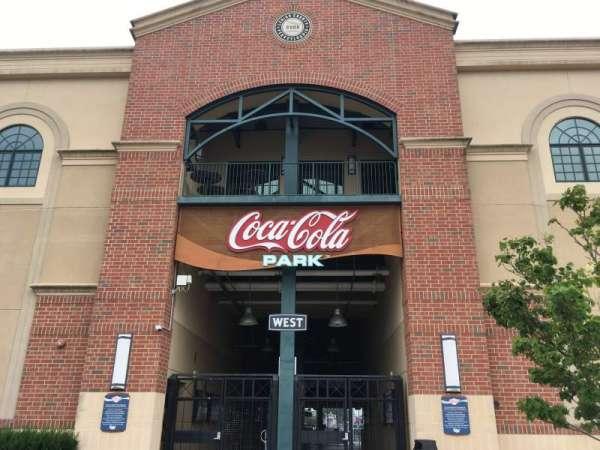 Coca-Cola Park, secção: WEST, fila: EXTERIOR