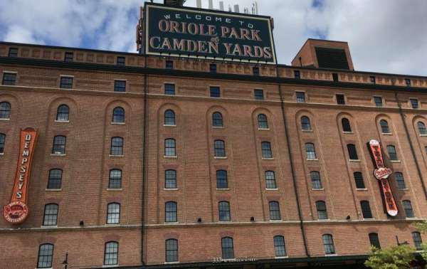 Oriole Park at Camden Yards, secção: WAREHOUSE, fila: EXTERIOR