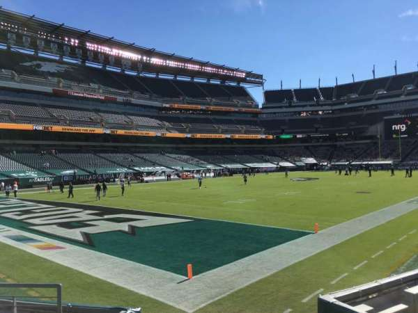 Lincoln Financial Field, secção: 133, fila: 6, lugar: 1