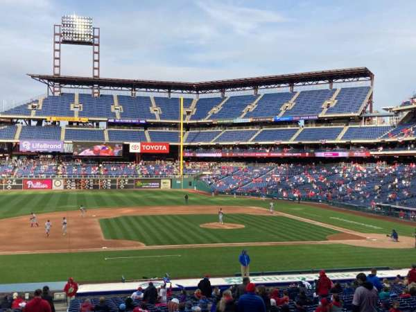 Citizens Bank Park, secção: 132, fila: 37, lugar: 1