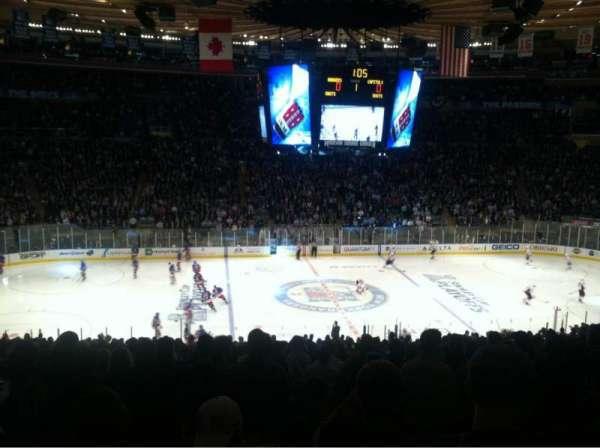 Madison Square Garden, secção: 336, fila: D, lugar: 10