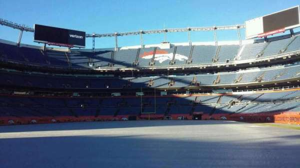 Broncos Stadium at Mile High, secção: 129, fila: 1