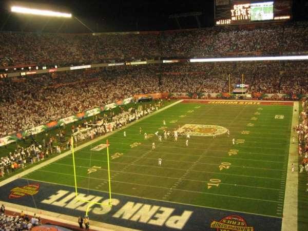 Hard Rock Stadium, secção: Upper End Zone, fila: 1