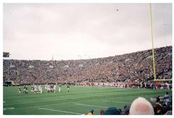 Notre Dame Stadium, secção: 2, fila: 9, lugar: 9