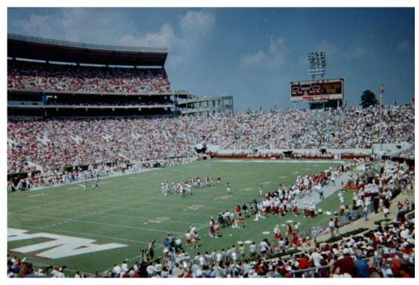 Bryant-Denny Stadium, secção: N, fila: 31, lugar: 6-7