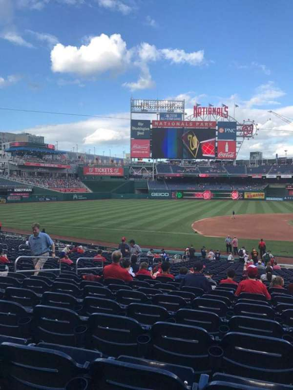 Nationals Park, secção: 115, fila: HH, lugar: 9