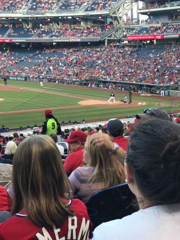 Nationals Park, secção: 115, fila: HH, lugar: 10