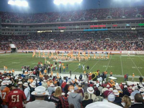 Raymond James Stadium, secção: 112