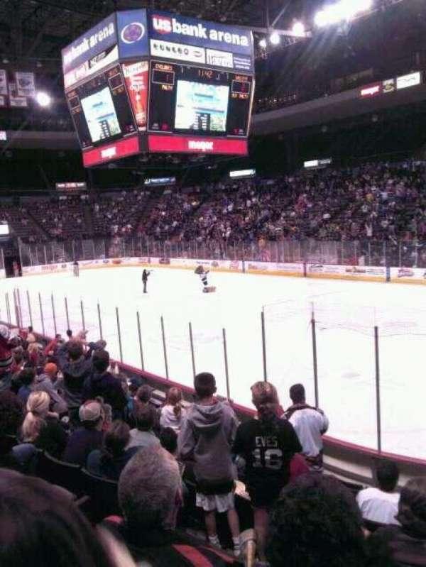 US Bank Arena, secção: 117, fila: I
