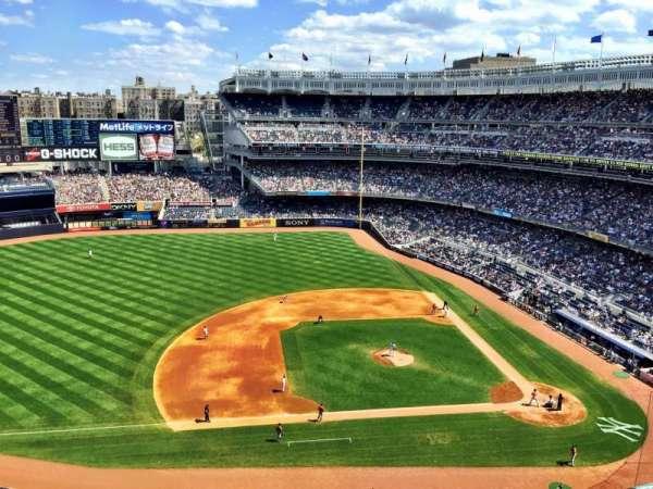 Yankee Stadium, secção: 425, fila: 2, lugar: 1