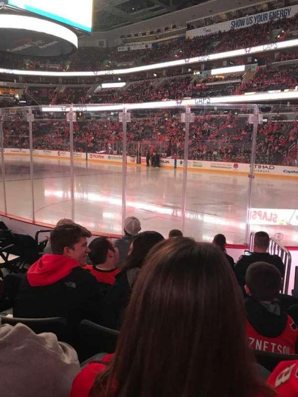 Capital One Arena, secção: 103, fila: G, lugar: 5