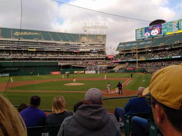 Oakland Coliseum, secção: 119, fila: 17, lugar: 2