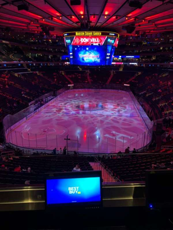 Madison Square Garden, secção: 218, fila: 2, lugar: 10