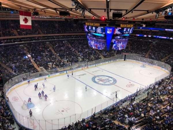 Madison Square Garden, secção: 310, fila: 1, lugar: 1