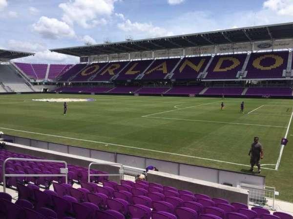 Exploria Stadium, secção: 10, fila: K, lugar: 1