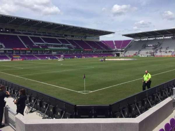 Exploria Stadium, secção: 1, fila: F, lugar: 17