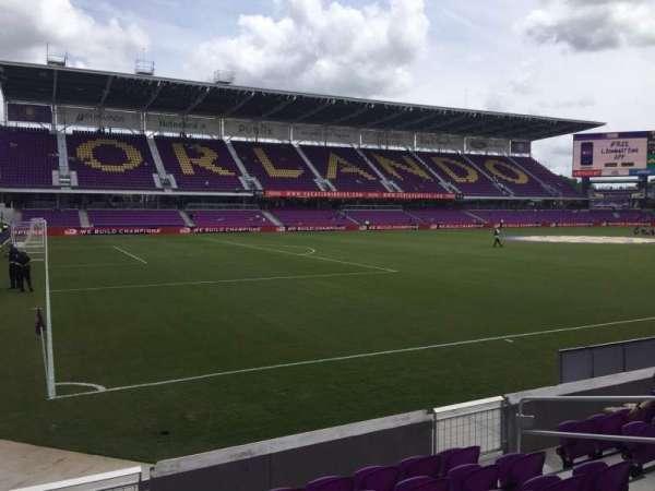 Exploria Stadium, secção: 20, fila: G, lugar: 10