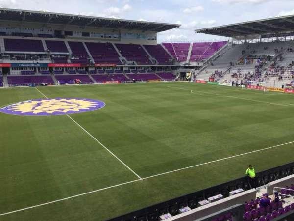 Exploria Stadium, secção: 135, fila: B, lugar: 3
