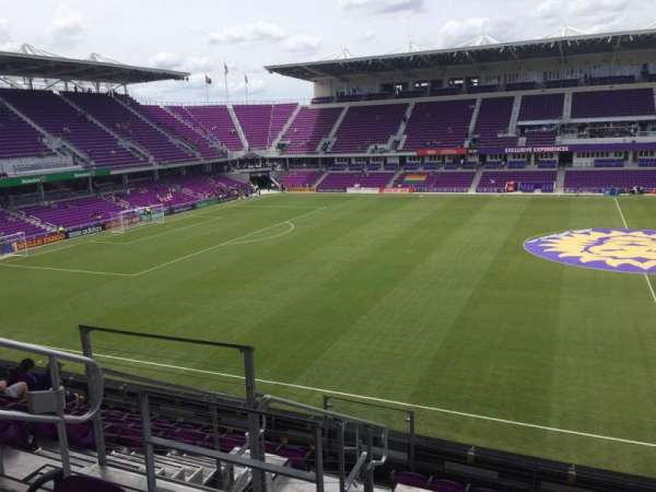 Exploria Stadium, secção: 135, fila: H, lugar: 23