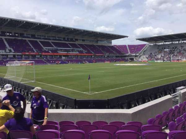 Exploria Stadium, secção: 1, fila: G, lugar: 18