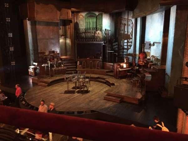 Walter Kerr Theatre, secção: MezzR, fila: A, lugar: 12