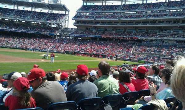 Nationals Park, secção: 113, fila: N, lugar: 10