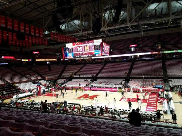 Xfinity Center (Maryland), secção: 115, fila: 14, lugar: 4