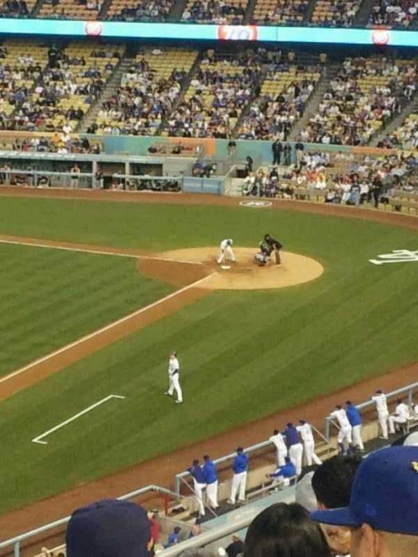 Dodger Stadium, secção: 35RS, fila: F, lugar: 22