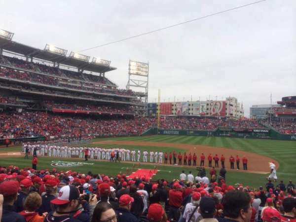 Nationals Park, secção: 130, fila: Z, lugar: 8