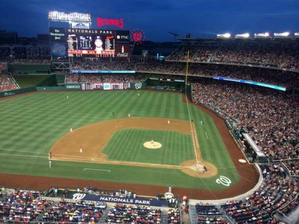Nationals Park, secção: 409, fila: A, lugar: 18