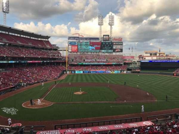 Great American Ball Park, secção: 301, fila: D, lugar: 8