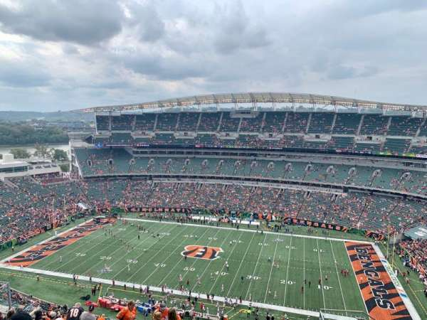Paul Brown Stadium, secção: 338, fila: 24, lugar: 5