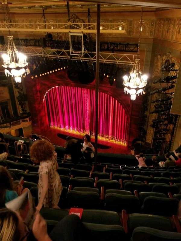 Shubert Theatre, secção: Balcony R, fila: J, lugar: 20