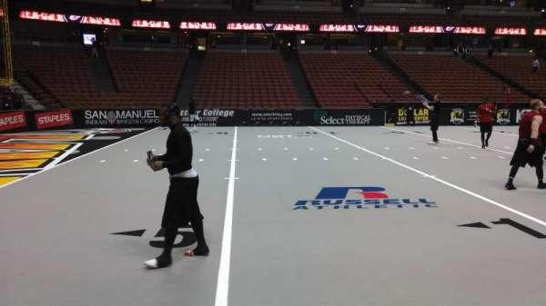 Honda Center, secção: 224, fila: A, lugar: 8