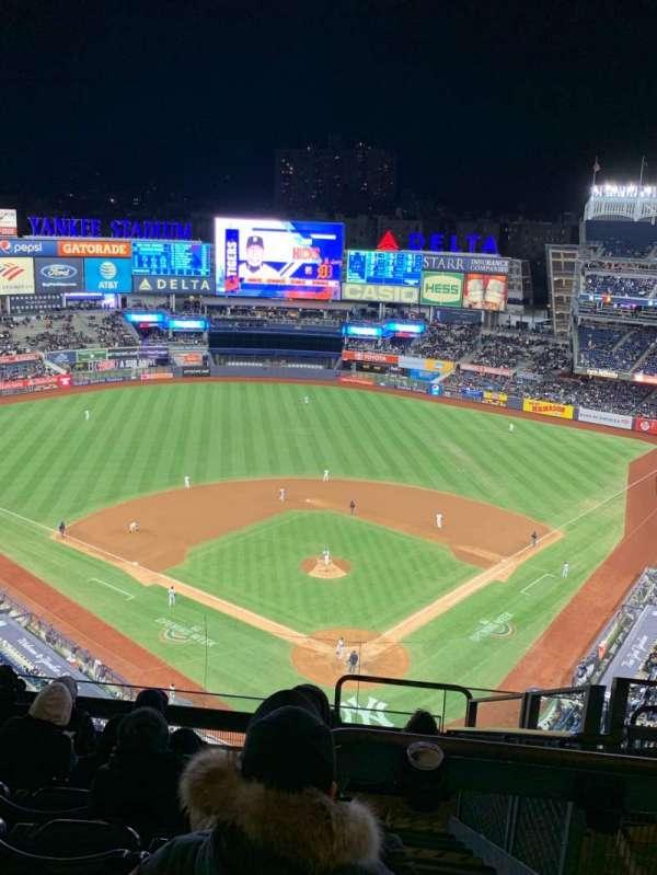 Yankee Stadium, secção: 420C, fila: 9, lugar: 4