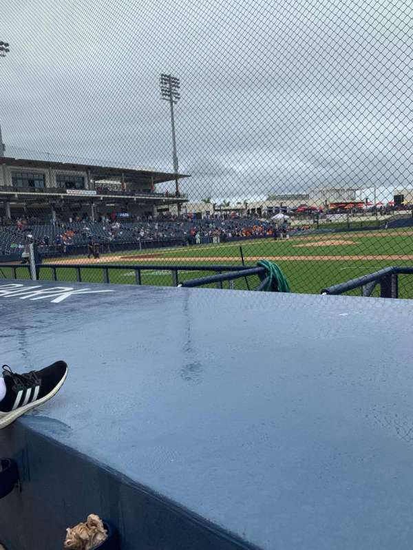 FITTEAM Ballpark of the Palm Beaches, secção: 115, fila: F, lugar: 4