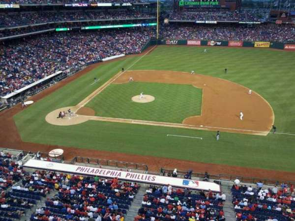 Citizens Bank Park, secção: 315, fila: 1, lugar: 5