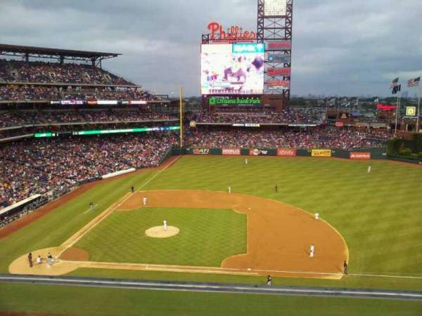 Citizens Bank Park, secção: 315, fila: 1, lugar: 7